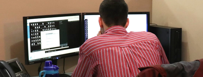 KJ team member providing tech support.