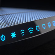 Wifi router as a symbol of Endpoint protection.