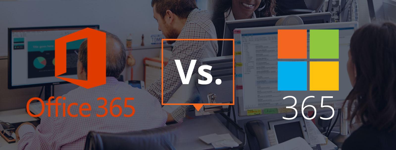 Office 365 vs. Microsoft 365